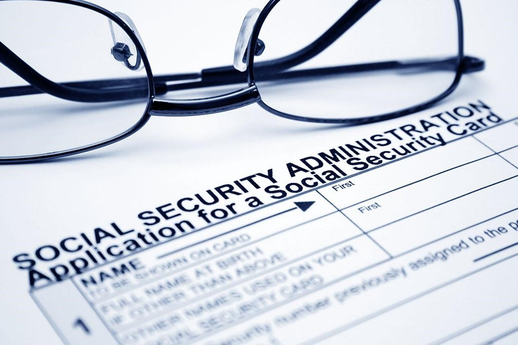Social Security Form with Glasses